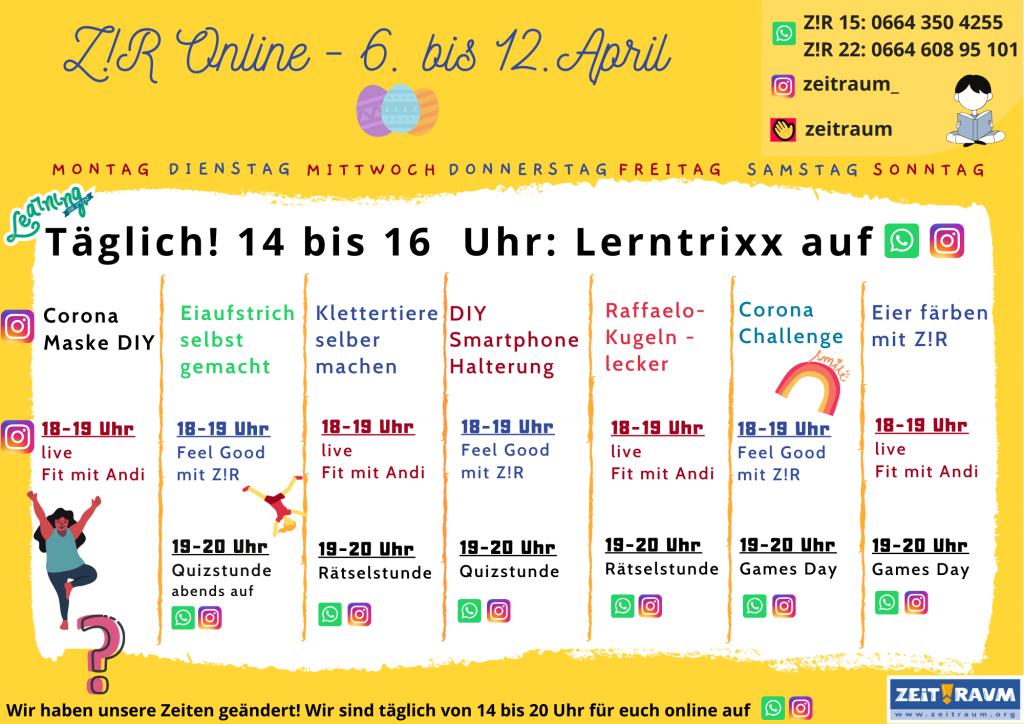 Wochenplan Osterferien